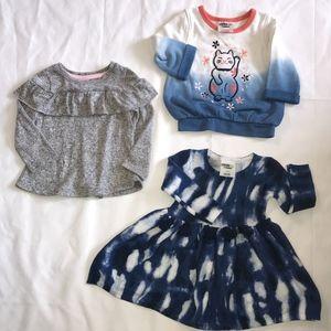 Oshkosh Dress and Sweatsuit/ Cat and Jack